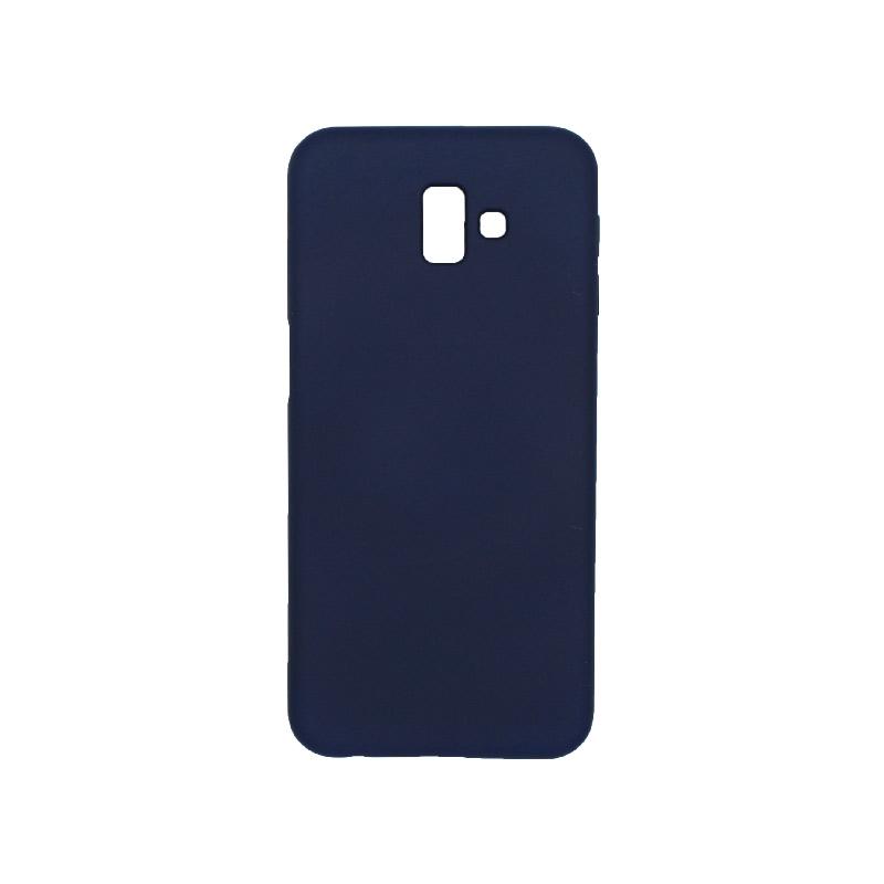 Θήκη Samsung Galaxy J6 Plus Silky and Soft Touch Silicone σκούρο μπλε 1