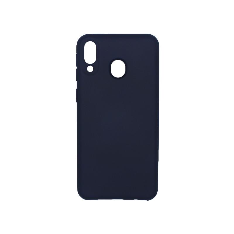 Θήκη Samsung Galaxy M20 Silky and Soft Touch Silicone σκούρο μπλε 1