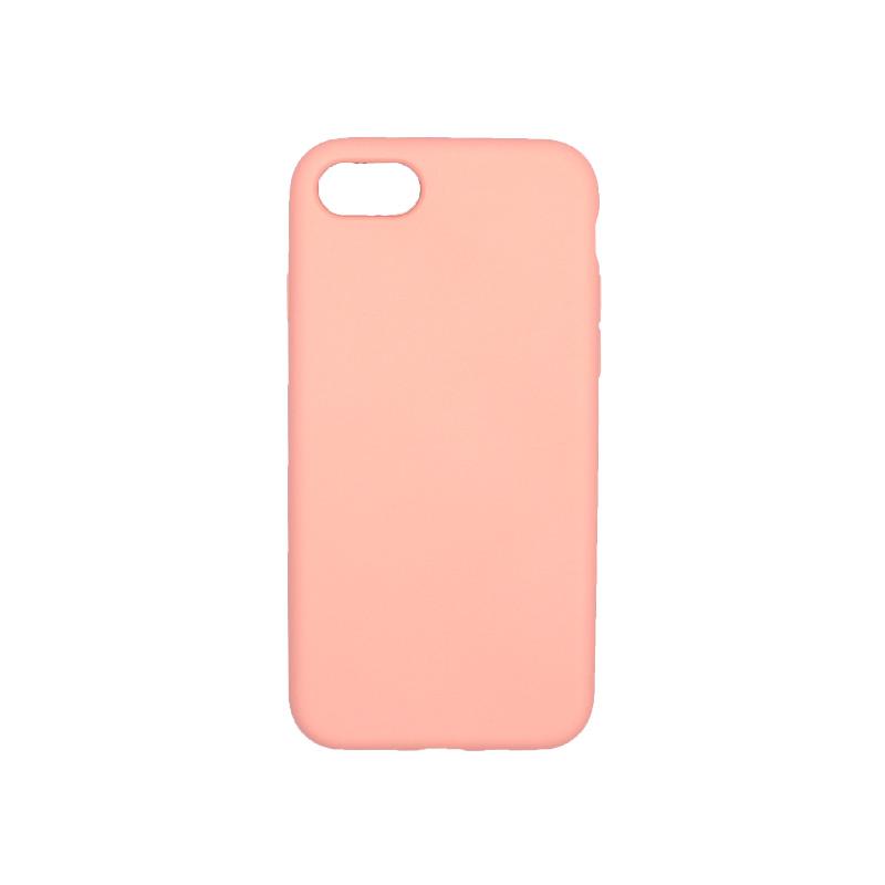 θήκη iPhone 7 / 8 silky and soft touch σιλικόνη μπεζ πίσω