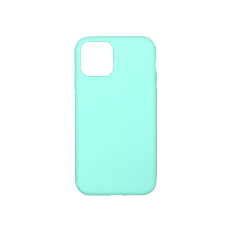 θήκη iPhone 11 pro silky and soft touch σιλικόνη τιρκουάζ πίσω