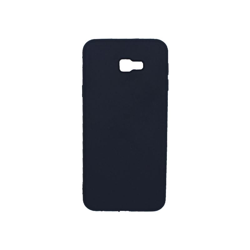 Θήκη Samsung Galaxy J4 Plus Silky and Soft Touch Silicone σκούρο μπλε 1