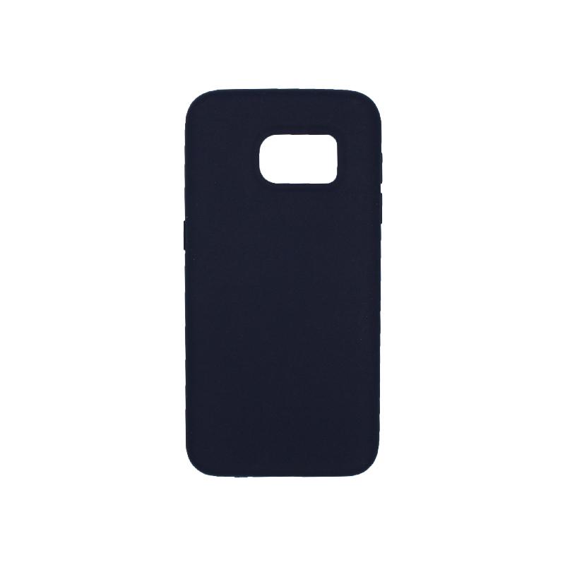 Θήκη Samsung Galaxy S7 Silky and Soft Touch Silicone σκούρο μπλε 1