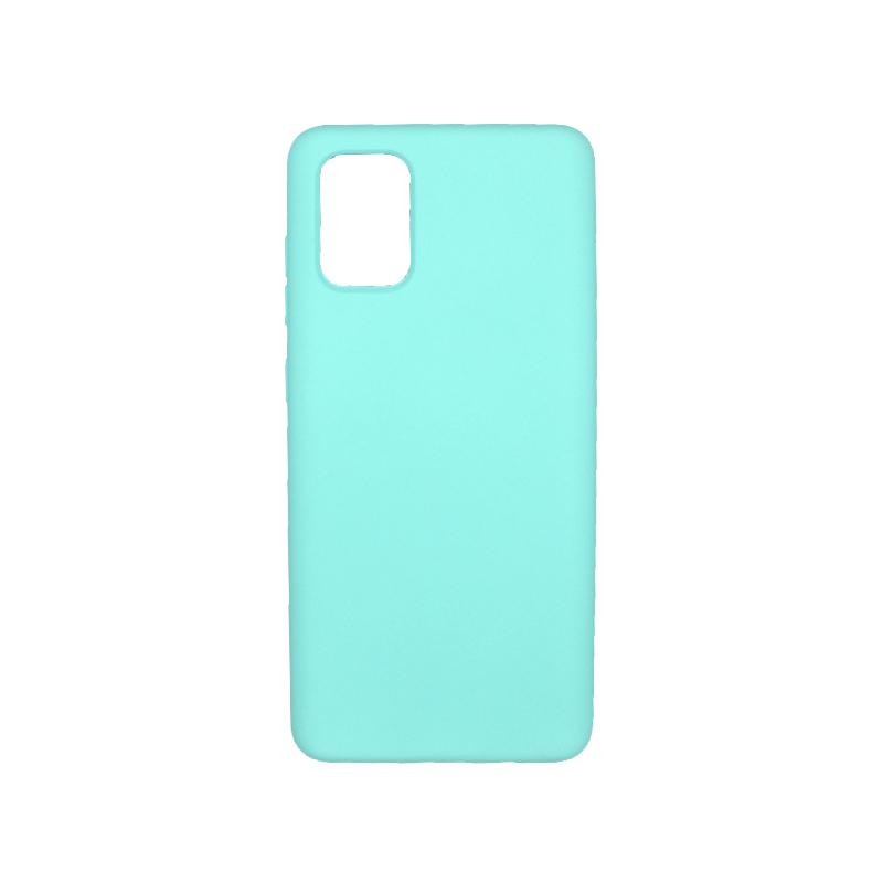 Θήκη Samsung A71 Silky and Soft Touch Silicone τιρκουάζ 1
