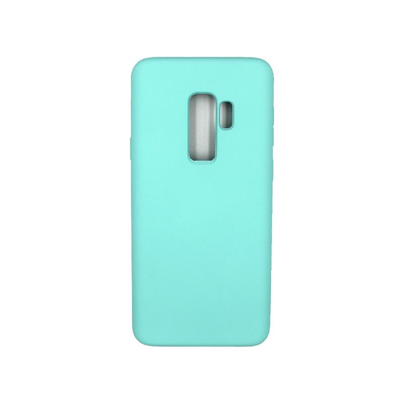 Θήκη Samsung Galaxy S9 Plus Silky and Soft Touch Silicone τιρκουάζ 1
