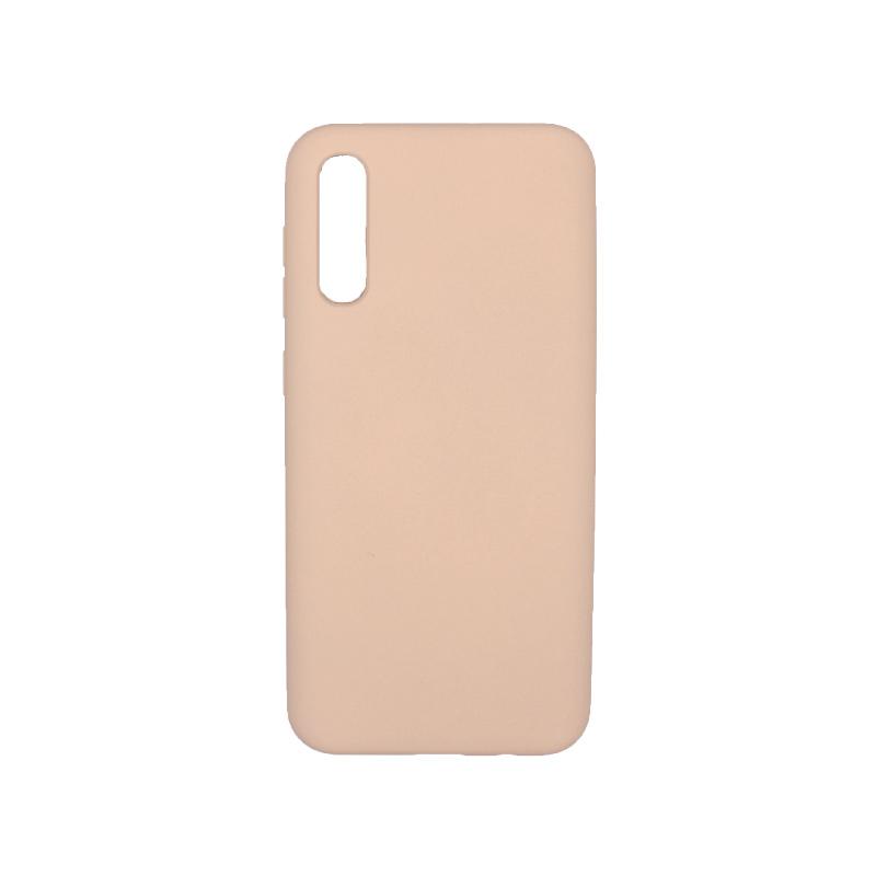 Θήκη Samsung A50 / A30S / A50S Silky and Soft Touch Silicone μπεζ 1