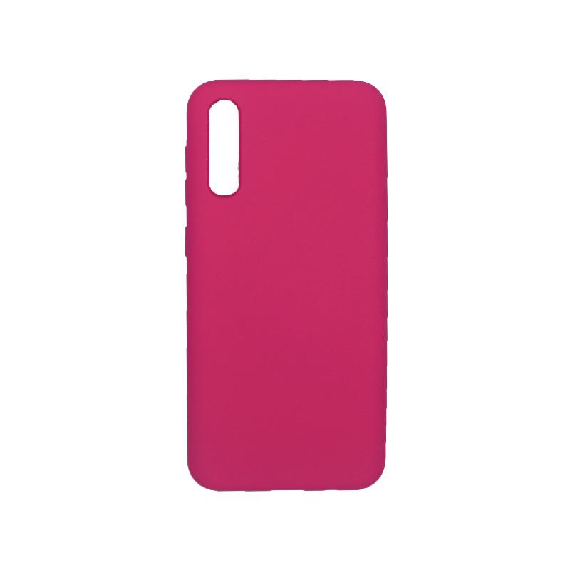 Θήκη Samsung A50 / A30S / A50S Silky and Soft Touch Silicone σκούρο φούξια 1