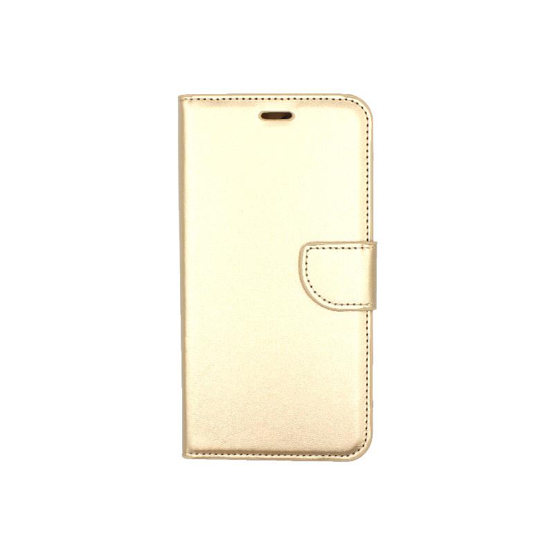 Θήκη iPhone 7 Plus / 8 Plus πορτοφόλι με κράτημα χρυσό 1
