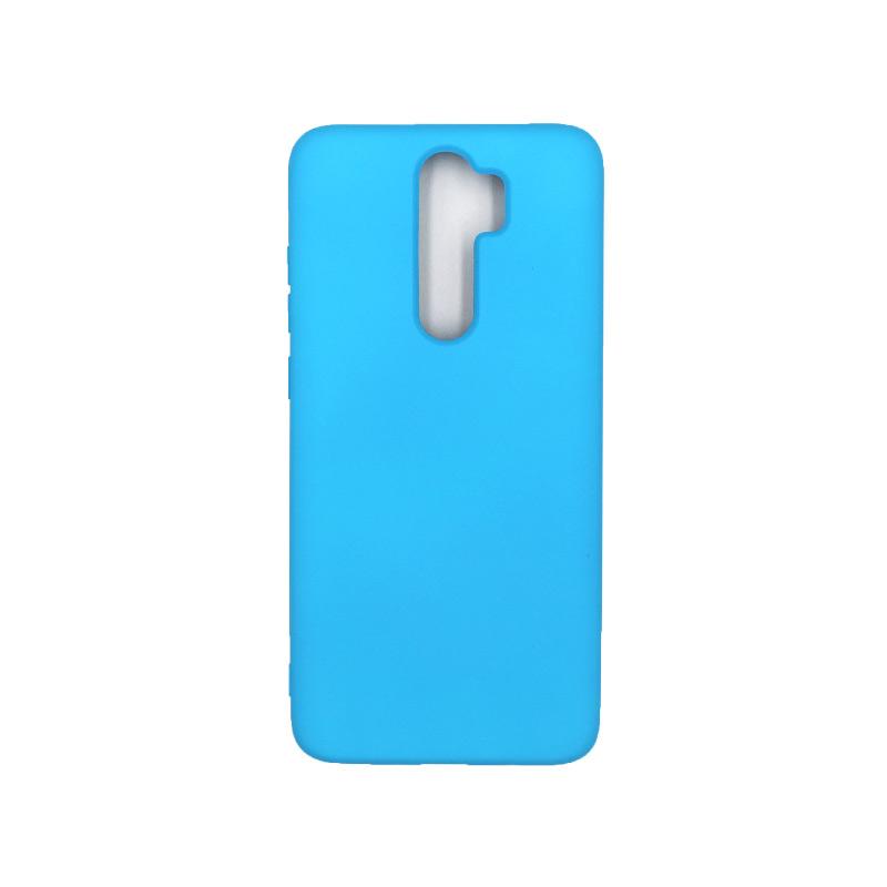 Θήκη Xiaomi Redmi Note 8 Pro Silky and Soft Touch Silicone γαλάζιο 1