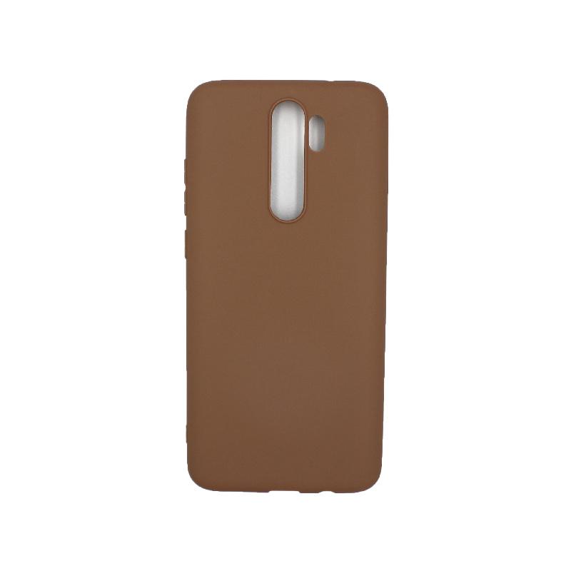 Θήκη Xiaomi Redmi Note 8 Pro Σιλικόνη καφέ
