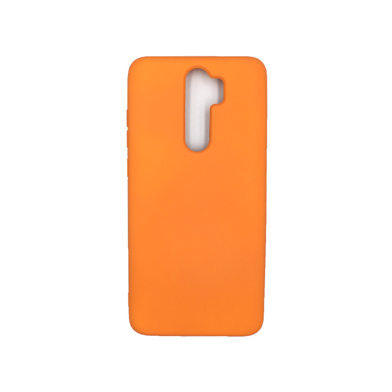 Θήκη Xiaomi Redmi Note 8 Pro Silky and Soft Touch Silicone πορτοκαλί 1