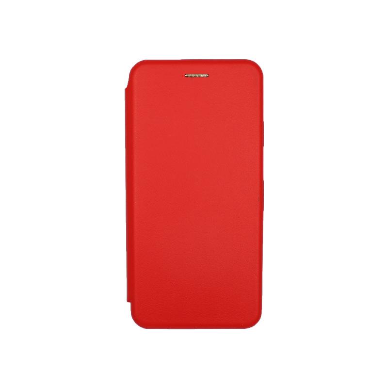 Θήκη Xiaomi Redmi Note 8 Pro Πορτοφόλι με Μαγνητικό Κλείσιμο κόκκινη 1