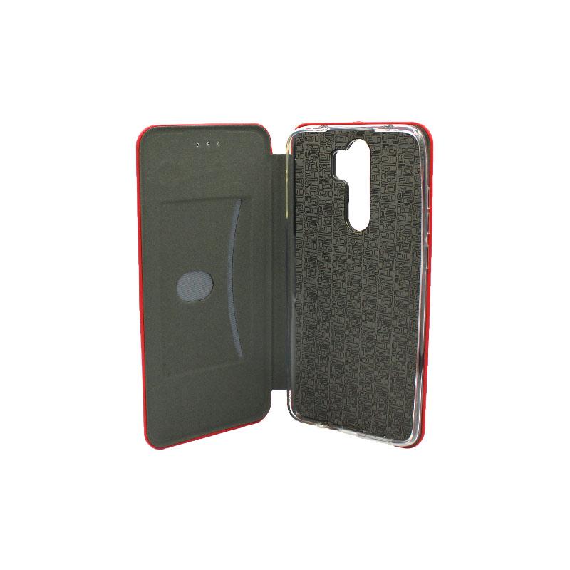 Θήκη Xiaomi Redmi Note 8 Pro Πορτοφόλι με Μαγνητικό Κλείσιμο κόκκινη 3