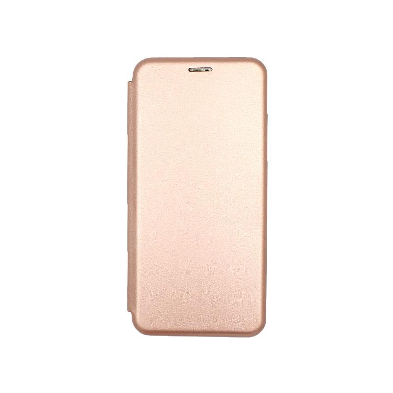 Θήκη Xiaomi Redmi Note 8 Pro Πορτοφόλι με Μαγνητικό Κλείσιμο ροζ χρυσό 1