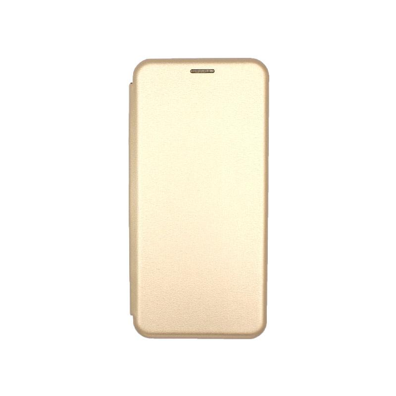 Θήκη Xiaomi Redmi Note 8 Pro Πορτοφόλι με Μαγνητικό Κλείσιμο χρυσό 1