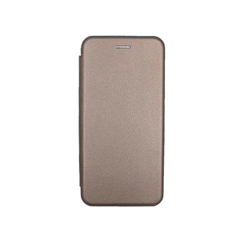 Θήκη Xiaomi Redmi Note 8 Pro Πορτοφόλι με Μαγνητικό Κλείσιμο γκρι 1