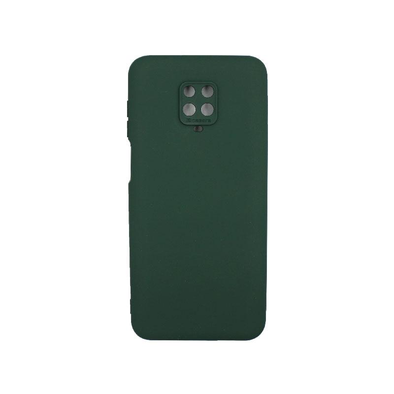 Θήκη Xiaomi Redmi Note 9S / Note 9 Pro / Note 9 Pro Max Silky and Soft Touch Silicone πρασινο1