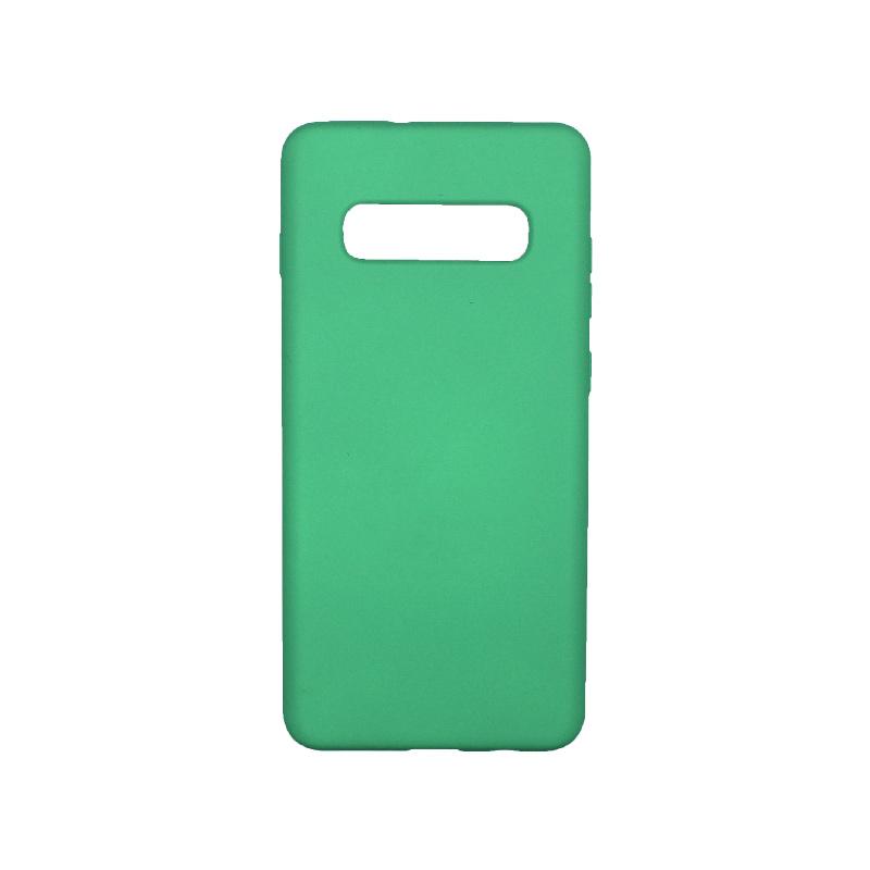 Θήκη Samsung Galaxy S10 Plus Silky and Soft Touch Silicone ανοιχτό πράσινο 1