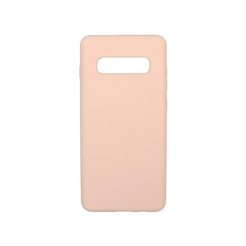 Θήκη Samsung Galaxy S10 Plus Silky and Soft Touch Silicone ανοιχτό ροζ 1