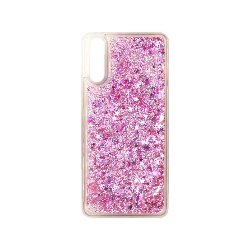 Θήκη Huawei P20 Liquid Glitter απαλό ροζ 1