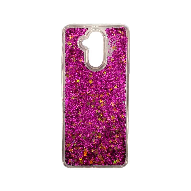 Θήκη Huawei Mate 20 Lite Liquid Glitter φουξ 1
