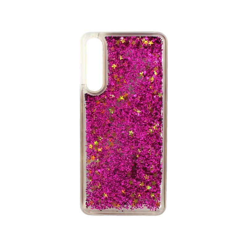 Θήκη Huawei P20 Pro Liquid Glitter φουξ 1