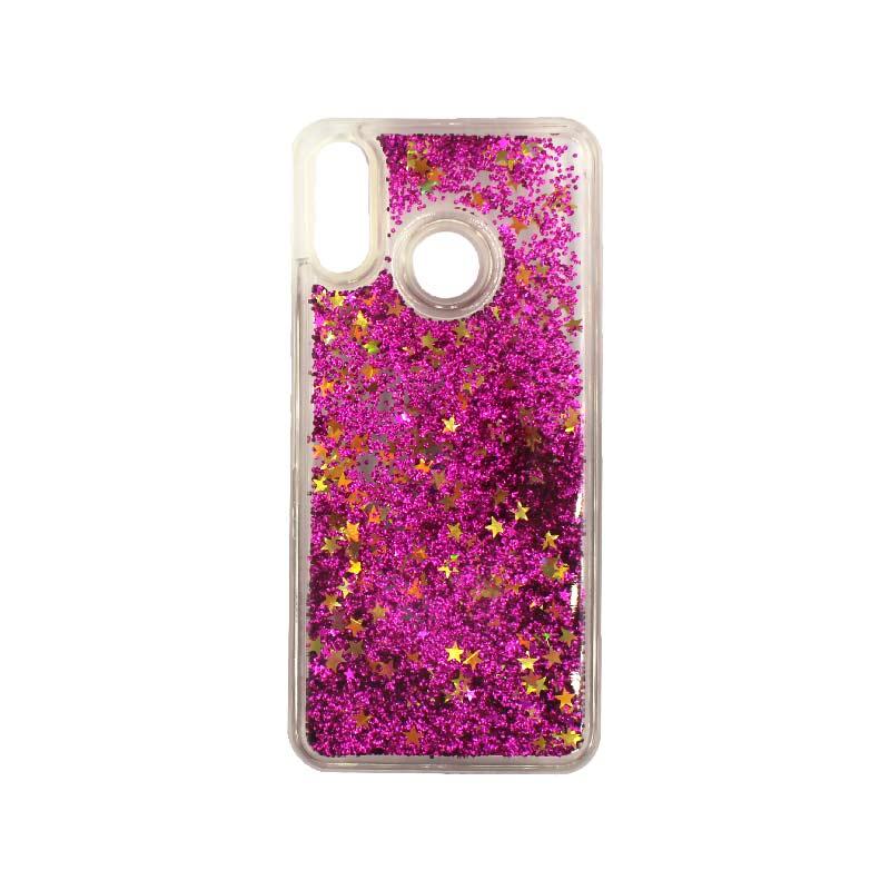 Θήκη Huawei P20 Lite Liquid Glitter φούξια 1