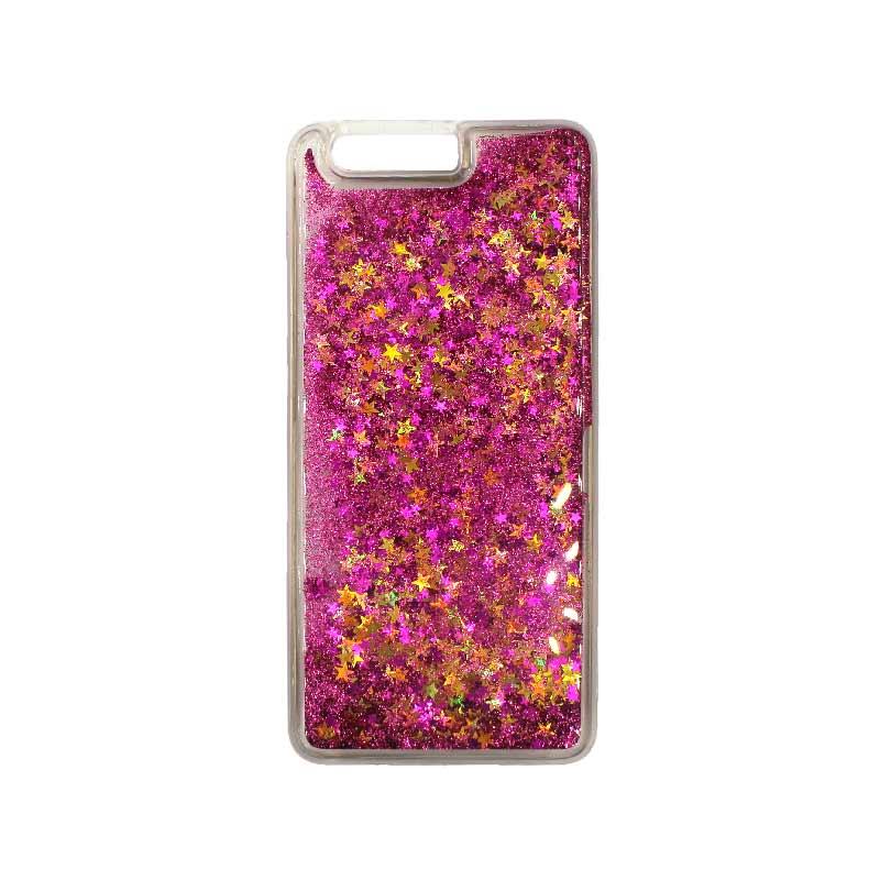 Θήκη Huawei P10 Plus Liquid Glitter φουξ 1