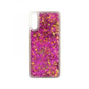 Θήκη Huawei P20 Liquid Glitter φουξ 1