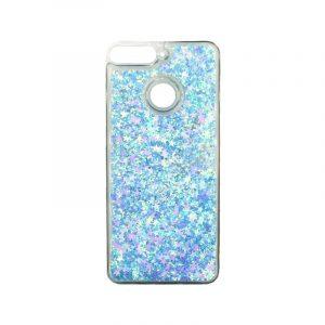 Θήκη Huawei Y6 2018 Liquid Glitter γαλάζιο 1