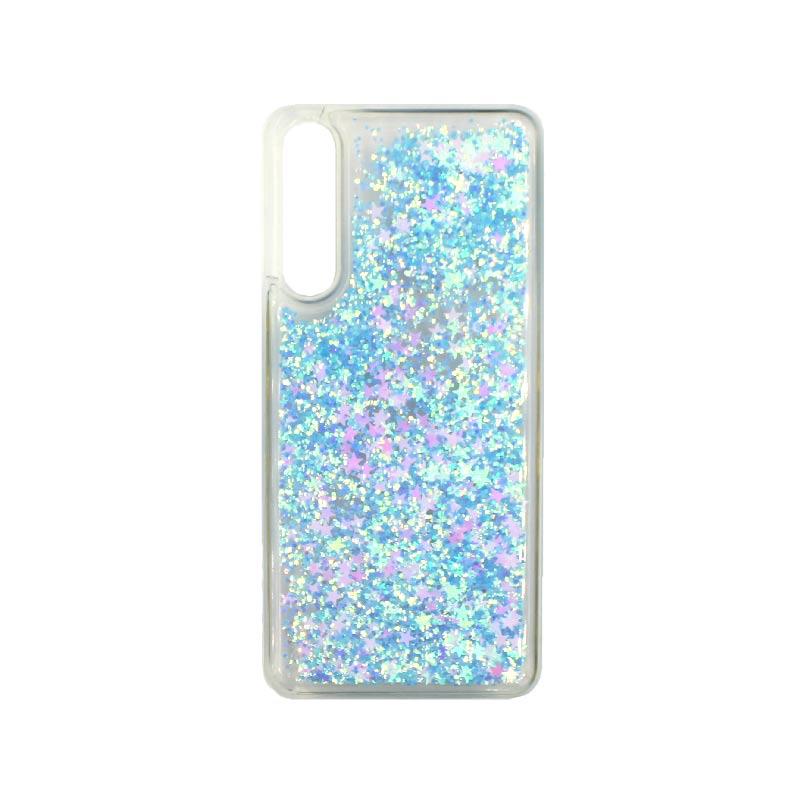 Θήκη Huawei P20 Pro Liquid Glitter γαλάζιο 1