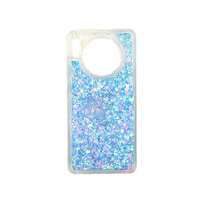 Θήκη Huawei Mate 30 Liquid Glitter γαλάζιο 1