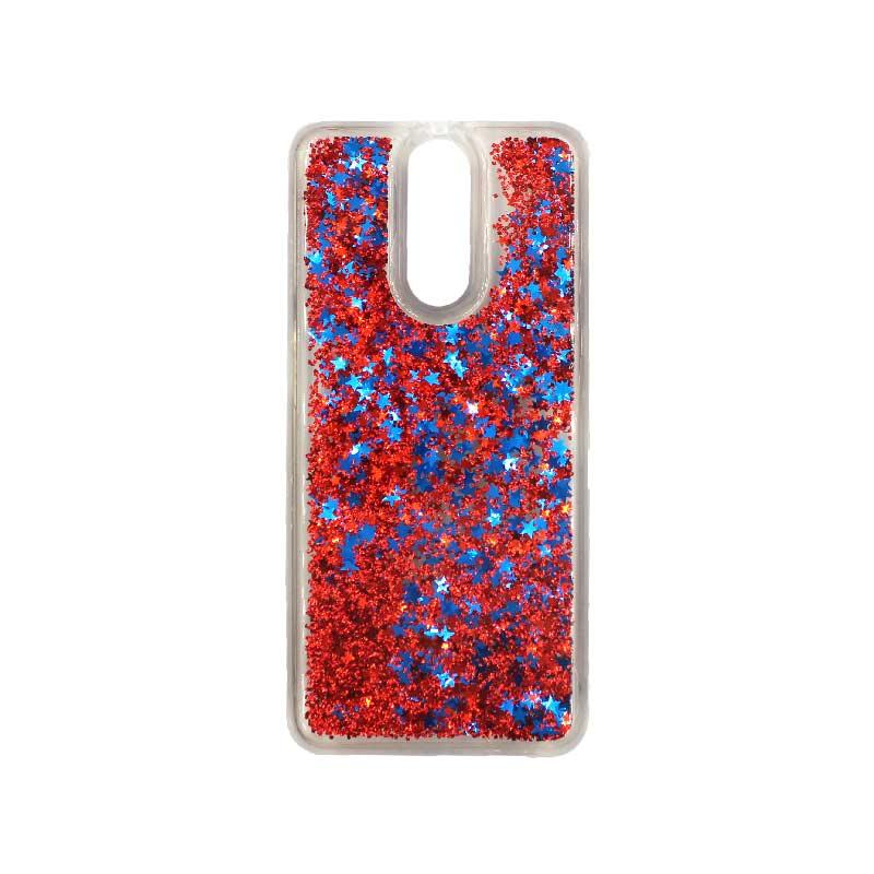 Θήκη Huawei Mate 10 Lite Liquid Glitter κόκκινο 1