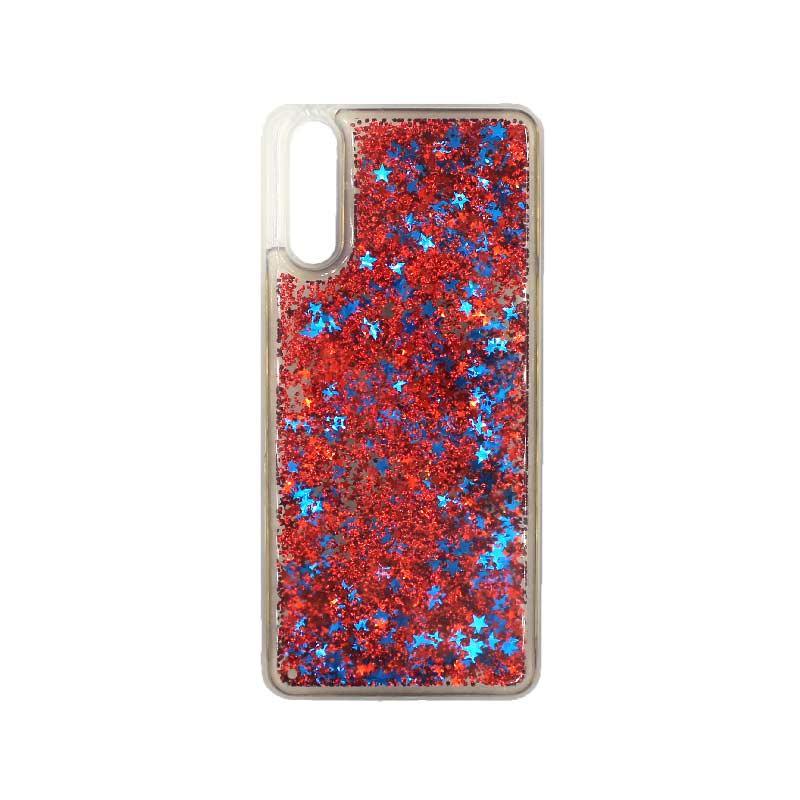 Θήκη Huawei P20 Liquid Glitter κόκκινο 1