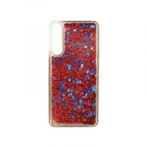 Θήκη Huawei P20 Pro Liquid Glitter κόκκινο 1