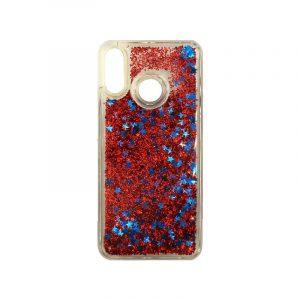 Θήκη Huawei P20 Lite Liquid Glitter κόκκινο 1