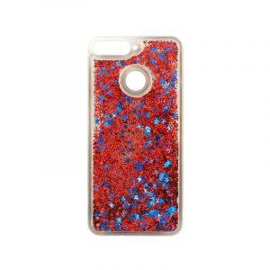 Θήκη Huawei Y6 2018 Liquid Glitter κόκκινο 1