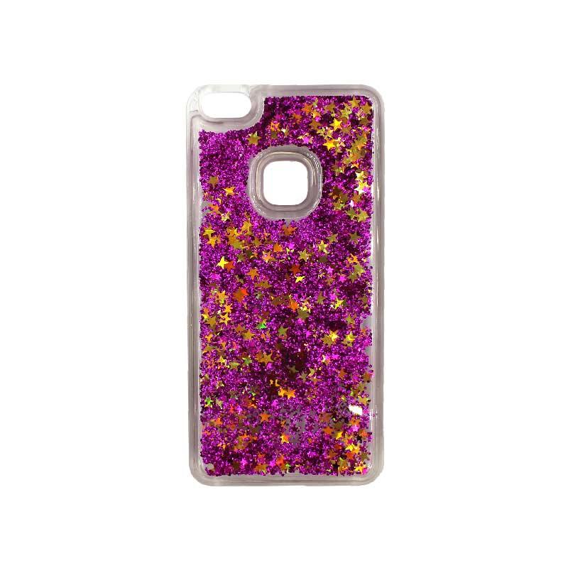 Θήκη Huawei P10 Lite Liquid Glitter μωβ 1