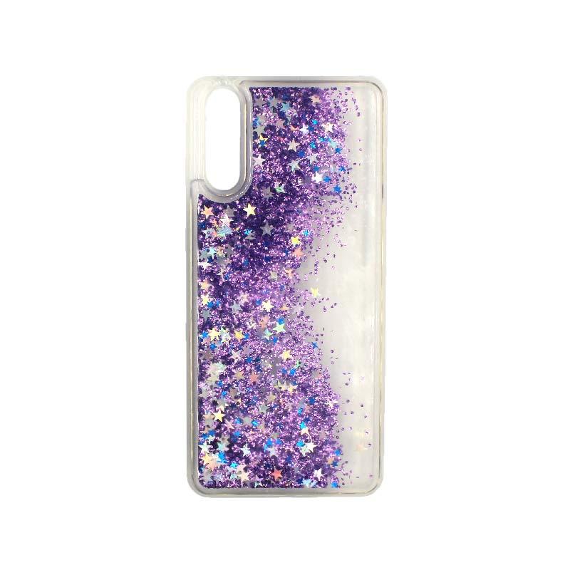 Θήκη Huawei P20 Liquid Glitter μωβ 2