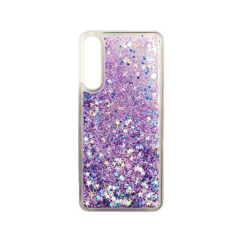 Θήκη Huawei P20 Pro Liquid Glitter μωβ 1