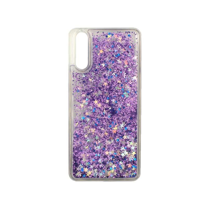 Θήκη Huawei P20 Liquid Glitter μωβ 1
