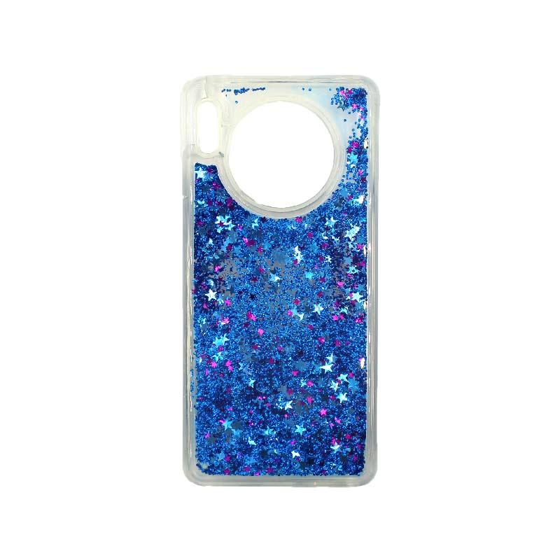 Θήκη Huawei Mate 30 Liquid Glitter μπλε 1