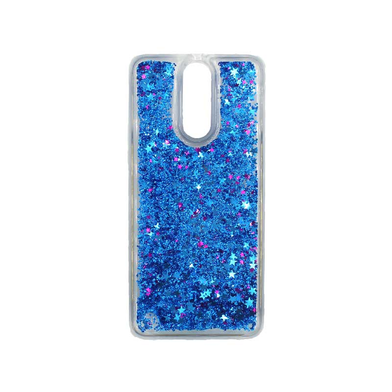 Θήκη Huawei Mate 10 Lite Liquid Glitter μπλε 1