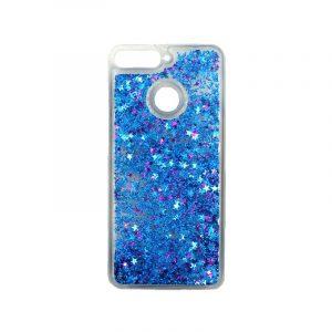 Θήκη Huawei Y6 2018 Liquid Glitter μπλε 1