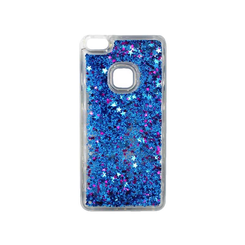 Θήκη Huawei P10 Lite Liquid Glitter μπλε 1
