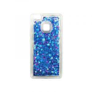 Θήκη Huawei P9 Lite Liquid Glitter μπλε 1