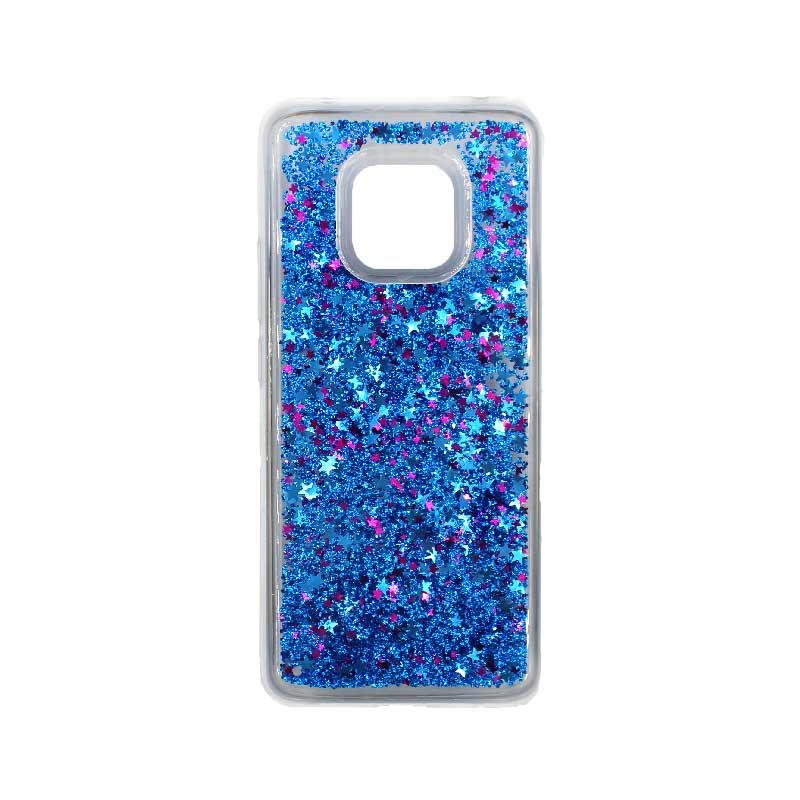 Θήκη Huawei Mate 20 Pro Liquid Glitter μπλε 1