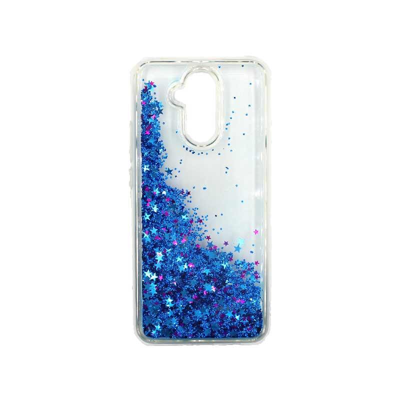 Θήκη Huawei Mate 20 Lite Liquid Glitter μπλε 2