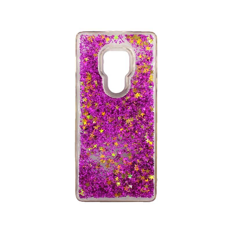 Θήκη Huawei Mate 20 Liquid Glitter μωβ 1