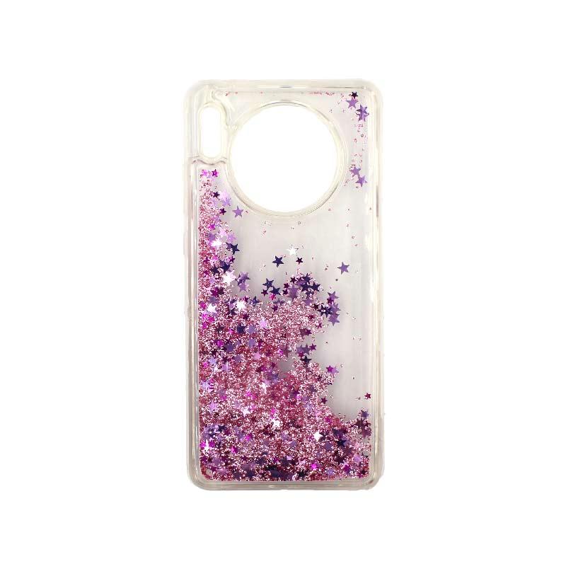 Θήκη Huawei Mate 30 Liquid Glitter μωβ 2