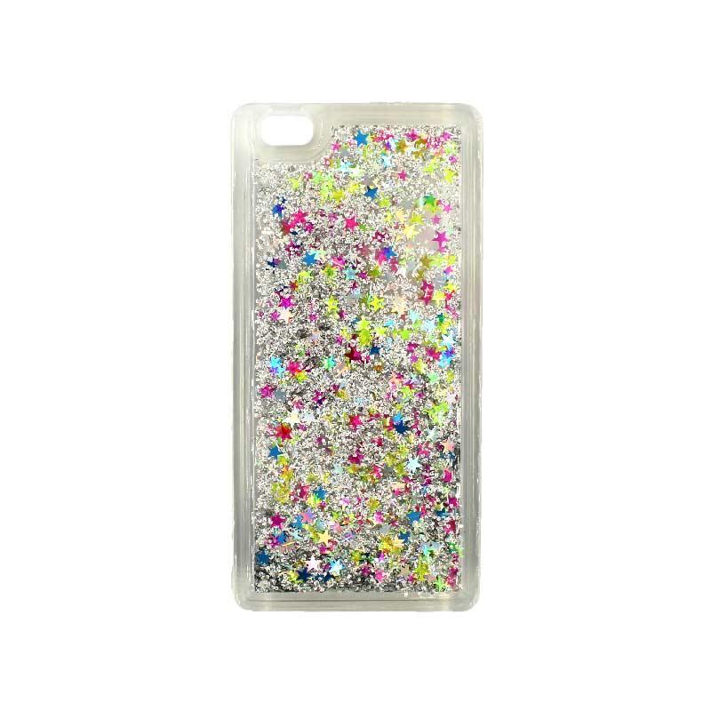 Θήκη Huawei P8 Lite Liquid Glitter πολύχρωμο 1